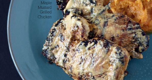 Paleo Maple Mustard Chicken Thighs
