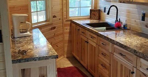 maximize  space  gracelands  wraparound lofted barn cabin   kitchen tiny