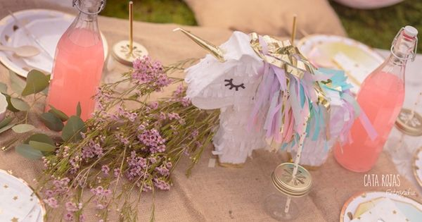 Unicorn Pinata Centerpiece From Dreamy Party At