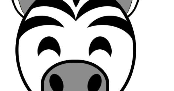zebra head template