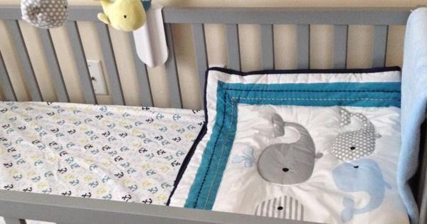 Circo 4pc Crib Bedding Set Whales N Waves Nursery