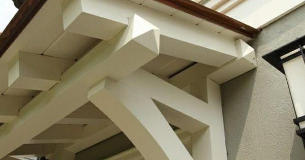 Custom Door Awning Craftsman Style With Wooden Bracket