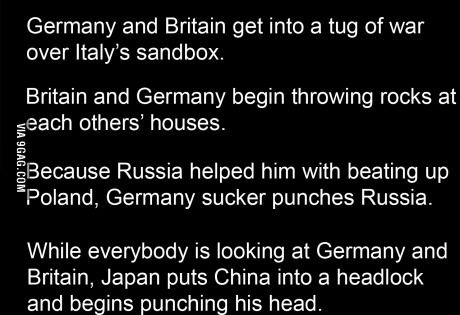 If World War 2 Was A Bar Fight..the history nerd in me