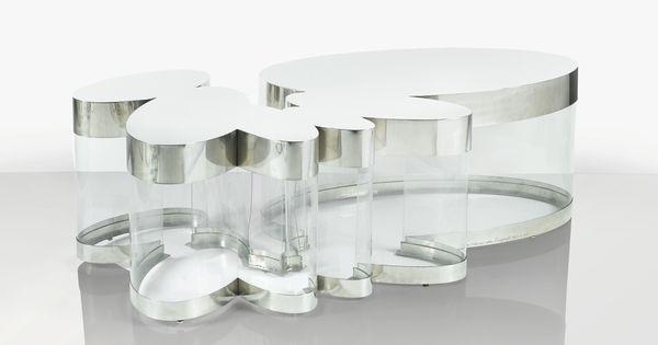 guy de rougemont n en 1935 table basse nuage le mod le de 1972 ex cut en 2012 39 nuage 39 a. Black Bedroom Furniture Sets. Home Design Ideas