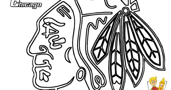Nhl Blackhawks Coloring Pages Coloring Pages