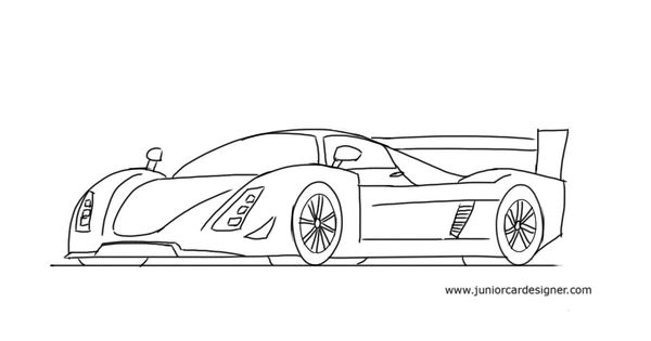 How To Draw A Race Car: Le Mans Prototype