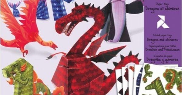 DIY Origami dragons by Djeco from www.kidsdinge.com www.facebook.com/...