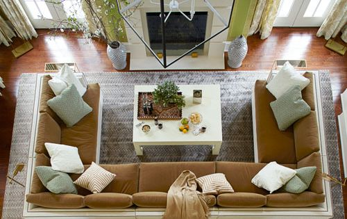 Family Room Ideas - love the cozy couch design
