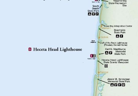 Oregon Lighthouse Map  Oregon Or Bust  Pinterest