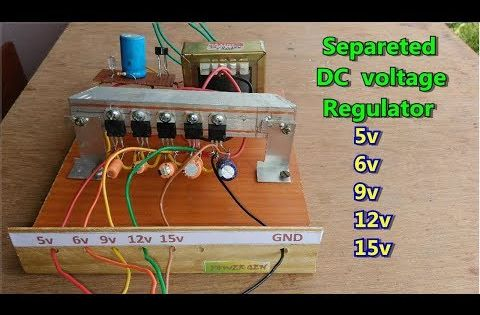 Diy Simple Separated Dc Voltage Regulator 5v 6v 8v 9v 12v 15v Etc Easy To Make At Home Youtub Voltage Regulator Power Supply Circuit Subwoofer Box Design
