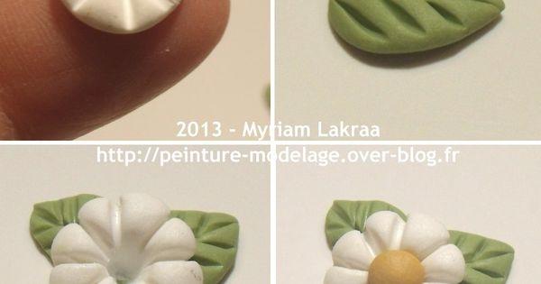 Myriam Lakraa Créations - Petite fleur, pas à pas - Pâte polymère