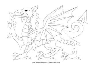 Welsh Dragon Colouring Page Flag Coloring Pages Dragon Coloring Page Welsh Flag