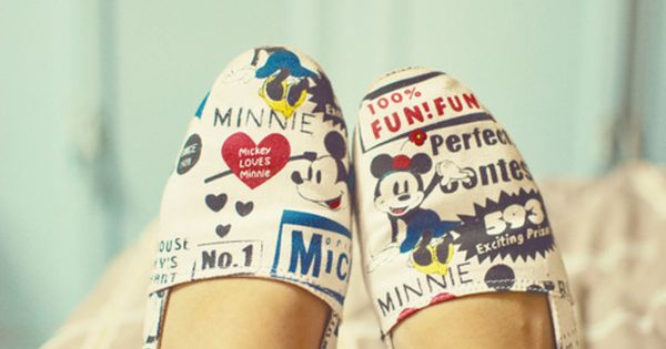 Mickey and Minnie Mouse Toms shoes