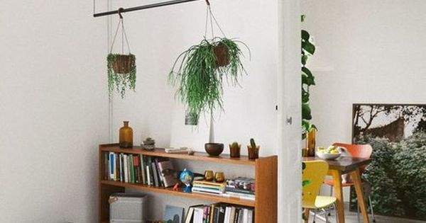 Hang String Rod Or Tree Branch From Rafters For Hanging Planters Genius And Love That