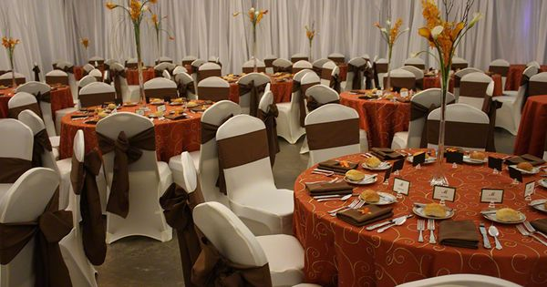 Brown And Gold Wedding Ideas: Orange And Brown Centerpiece Idea
