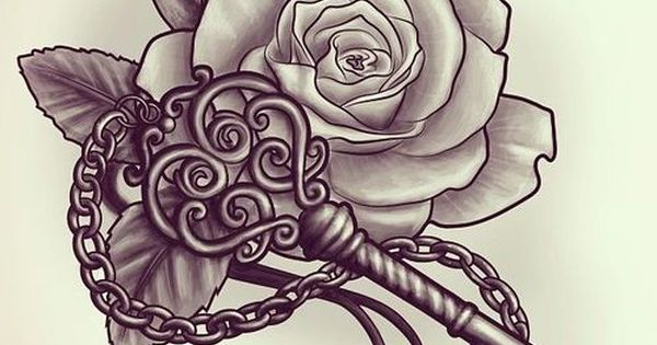 drawings of hearts with ribbons and roses Google Search