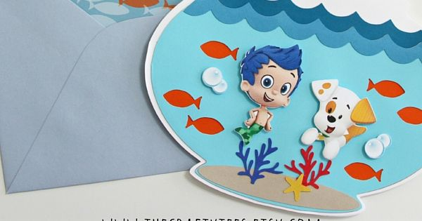 Bubble guppies invitations fish bowl invitation for Bubble guppies fish