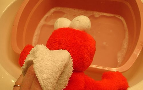 How to clean stuffed animals that cannot go through the washer. Thank