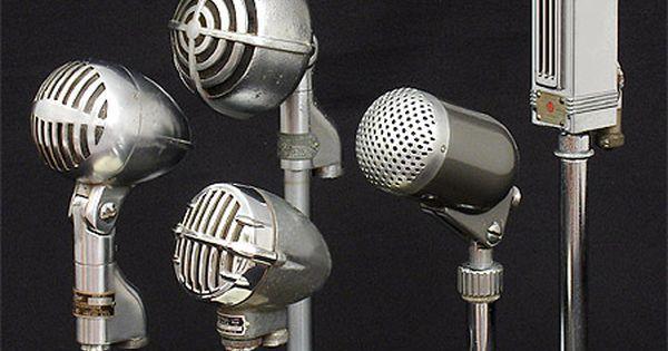 Antique Collectible Microphones Shure 705a Astatic Jt 30
