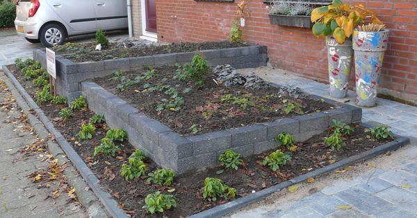 Onze voortuin gedeeld en die van de buren voortuin pinterest tuin idee n tuin en idee n - Moderne tuin ingang ...