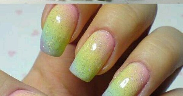 "They're beautiful! Pastel Rainbow Gradient Nails - From Kerli's ""Trend Alert... Gradient"""