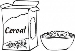 Breakfast Coloring Page Paginas Para Colorear Alimentos Para