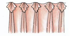 Drapery Pleating Styles 6 Drapery Connection Pinch Pleats With