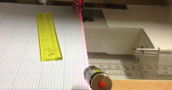 laser marker for sewing machine