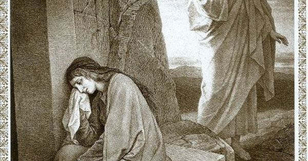 Image result for mary weeping at the tomb