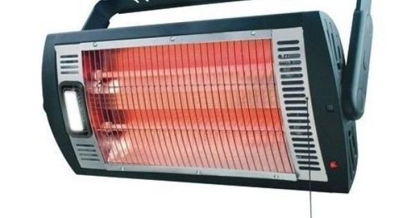 Ceiling Mounted Workshop Garage Heater Halogen Light 1500