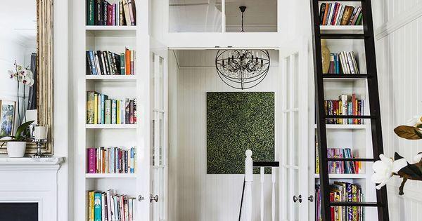 Lastest Custom Built In Bookcases Around French Doors  Birmingham PA