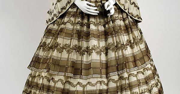 Dress 1858 The Metropolitan Museum of Art early civil war era fashion