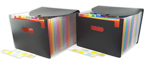 Document Folder Office Paper Organize File Stationery Portable Bag Briefcase LD