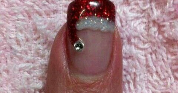Make your nails super festive this Christmas with cute Santa Hat nail