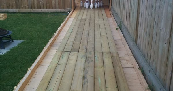 diy backyard bowling alley bowling backyard and yards