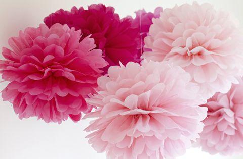 Facile je r alise des fleurs en papier de soie origami - Decoration en papier facile ...