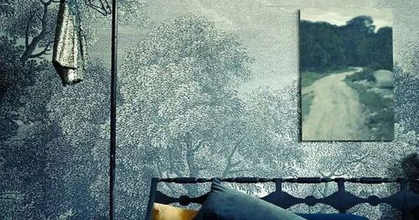 Anthropologie wallpaper materials pinterest for Anthropologie wall mural