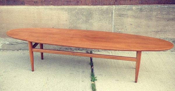 Drexel Heritage Surfboard Coffee Table By Foundvintageliving Vintage Pinterest
