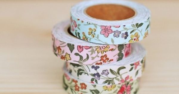 Cotton Fabric Wild Flower Adhesive Deco Tape