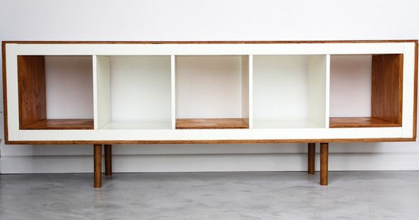 Ex Ikea Upright Bookcases now Mid Century Modern Sideboards | IKEA Hackers