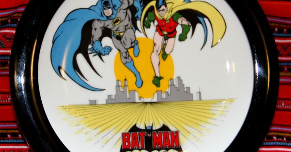 Batman Amp Robin Collector Plate In Frame 1983 One Of Six