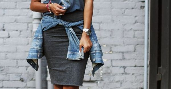 Grey Basic Pencil Midi Skirt Sincerely Jules Summer - Pre Fall Trends