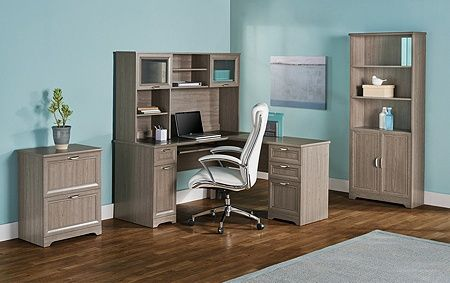 Www Officedepot Com A Products 822239 Realspace Magellan Collection L Shaped Desk Grey Desk Home Office Space L Shaped Desk