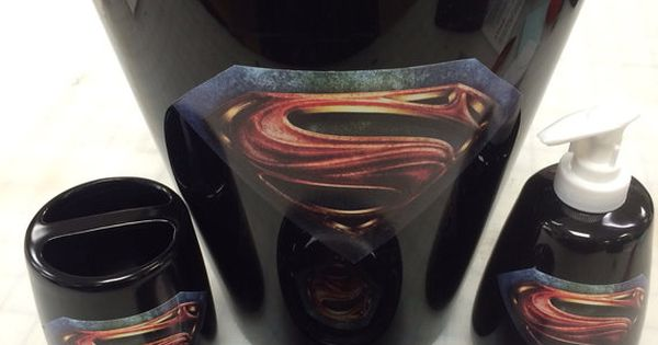 Superman Man Of Steel Bathroom Accessories Set By Vslsigns On Etsy Josh Pinterest