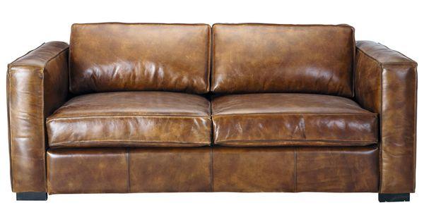 ausziehbares 3-sitzer- sofa aus leder, braun antik berlin berlin, Hause deko