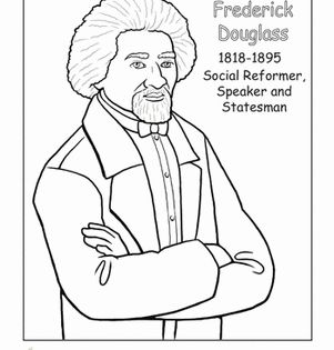 frederick douglass coloring page black history month worksheets and history. Black Bedroom Furniture Sets. Home Design Ideas