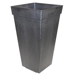 Tierra Verde 11 In X 20 In Pewter Self Watering Rubber Planter Mt5100114 The Home Depot Rubber Planters Planters Tierra Verde Tierra verde self watering planter