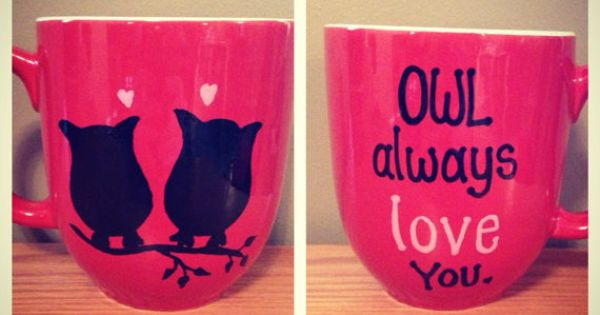Owl coffee mug on Etsy, $14.00