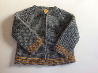 Lined Babyjacke of knitted fabric