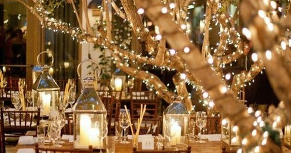 gorgeous wedding receptions | Outdoor Wedding String Lights for Wedding Reception ideas